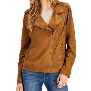 NWT Style & Co Faux Suede Moto Jacket